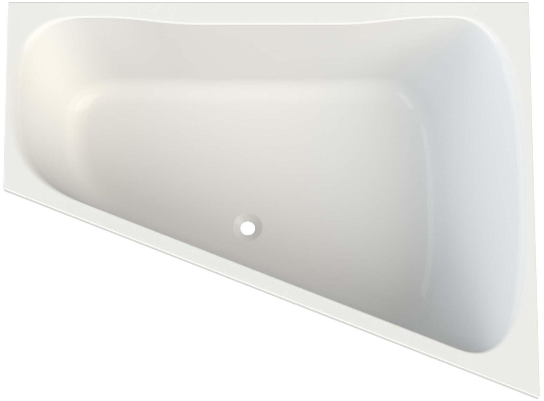Egger Haus Hof Handwerk Format Design Acryl Trapez Badewanne Weiss